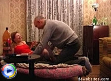 Naughty teen redhead gets banged by horny old guy