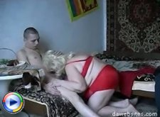 Young dick gives a massive ass mature cunt some nice hard fucking
