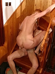 Redhead mom getting hairy twat licked