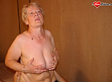 Mature man hard fucking mature woman on the bed