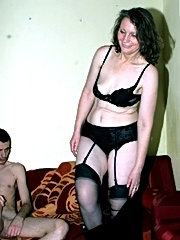 Mature accountant seduces her young assistant