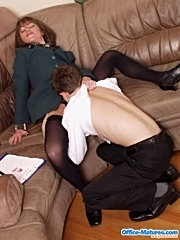 Big titted blonde mature hard fucked at the office