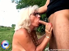 Long legged mature in stockings muffdived and butt fucking