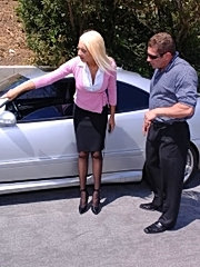 Donna broke down, and jack gave her a tune-up!