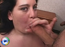 Bbw fingercuffed and glazed in her pretty face