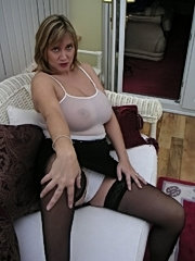 Busty milf with white panties
