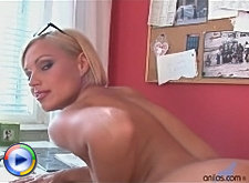 Sylvia spreads her sexy ripe ass for our viewers only at anilos.com