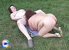 Big beautiful lesbos rubbing clits