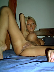 Sexy big tit queen plays with her new glass toy
