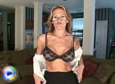 Bra and panty mature hand job
