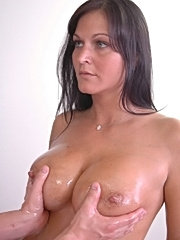 Big titted brunette loves hard young cock