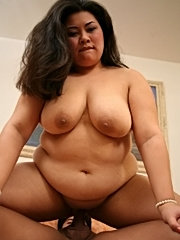 A fat asian freak gets fucked and facialized