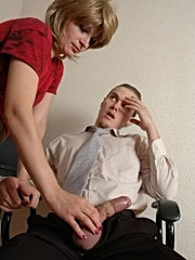 Granny in office undress older sucking mature cock