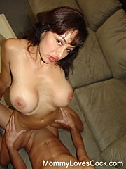 Cockstarved momma licking cock and getting screwed