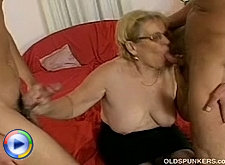 Horny mature muffdived and butt fucking from behind