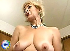 Old hag gets a big cock up her ass and then a creamy cumshot!