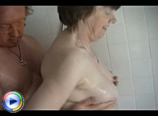 A chubby housewife is picked up by a granny hunter