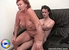 Wet mature cunt rides a horny young man's throbbing cock