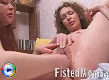 Mature redhead mila sucking geck's dick and enjoy great fucking with fisting action
