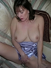 Milf wife showing her big breats