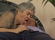 Chubby 60 y.o. granny nailed by horny mature man