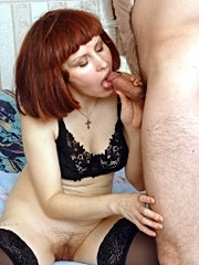 This guy is sad. only experienced milf knows that sex is the best way to help him.