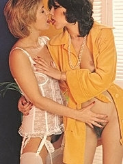 Two hairy seventies girls pleasing one cock