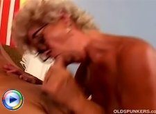 Horny mature slut having butt stretched outdoors
