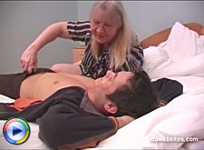 Teen stud gives a horny old pussy some wild fucking to enjoy