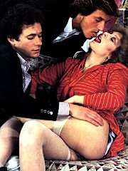 Hairy retro pussyhole fucked with two dicks