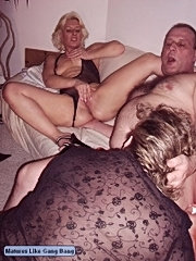 A hot old slut gets out her titties and opens her ass for some anal loving!
