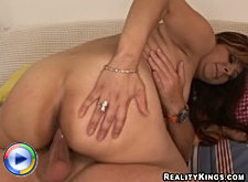 A massive tits milf in action