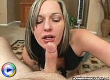 Sexy mature mom gets her mouth and pussy fucked silly in the bath