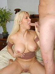 Hot french milf catches a nice eye full of nut in these pics