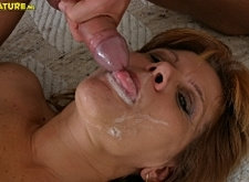 Horny grandma craving a hard young cock