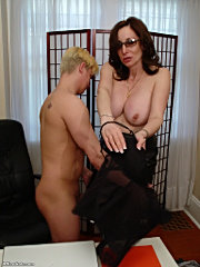 Shaking ass and tits milf fuck in office