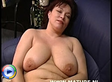 This big titted mature slut is horny as hell
