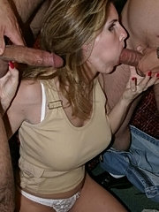 Tara gets her mouth stuffed with a hard penis
