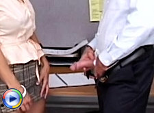 Office lesbians massage their assholes with dildos
