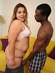 Fat jiggles like jello in this hardcore interracial action