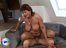 Old bitch gets dick and fist into her hairy pussy