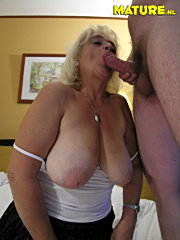 Mature granny with big tits