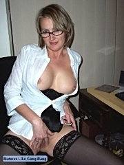 Play with those big boobs and slide your hard dick in her hungry mature snatch! !