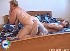 Old whore enjoys a wild fuck from a nasty youngster in the bedroom