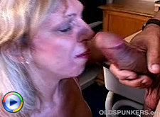 Granny with large boobs old mature on top of cock