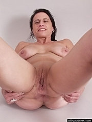 Sexy granny spreads wet pussy for you