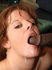 Eager mommy racheal devours enormous black cock and facial bombed