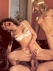 Two hairy seventies cuties who love the cock