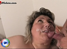 Fill that chubby mature slut with cum