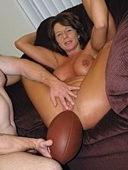 Cheryl stuffs a cock in her tender pussy
